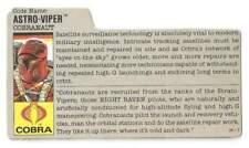 1988 Astro Viper v.1 FILE CARD gray filecard bio original GI/G.I. Joe Cobra JTC