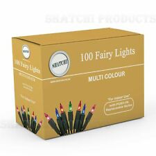 Traditional 100 Multicoloured Bulb Christmas Tree Fairy Lights Xmas Decoration
