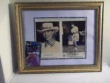 MICHELLE MCGANN Signed ORIGINAL lot of 2 photos FRAMED MATTED LPGA GOLF 16X13