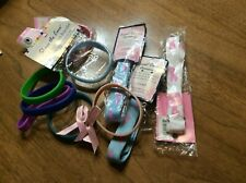 Breast Awareness Lanyard And Rubber Bracelets & 2 Pins