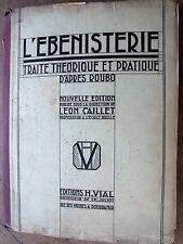 1m L'ébénisterie - traité théorique et pratique d'après Roubo - 124 planches