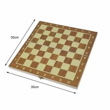 Wood Chess Wooden Magnetic Pieces Foldable Board Chessboard Travel Game Set