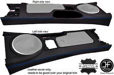 BLUE STITCHING CENTRE CONSOLE LEATHER COVER FITS MAZDA MX5 MK3 3.5 2009-2015