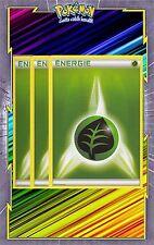 Energie Plante x3 - Cartes Pokemon Neuve Française - NRJ - Verte