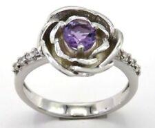 Anelli di lusso con gemme in argento sterling pietra principale ametista Misura anello 16