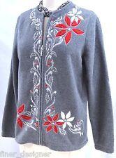 Croft & Barrow fleece Ugly Christmas Sweater zip up cardigan jacket top SZ S NEW