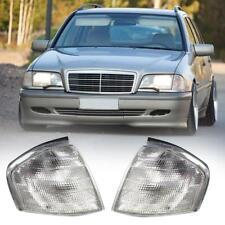 1 Pair Car Clear Lens Corner Turn Signal Lamp Lights For C Class W202 1994-2000