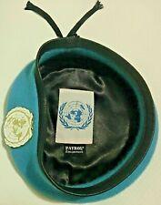 Béret Bleu ONU O.N.U Organisation des Nations unies * avec insigne - Taille 54