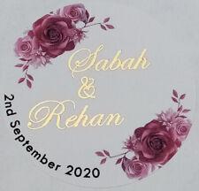 Personalised Wedding Mehndi Celebration GOLD FOIL Stickers Labels