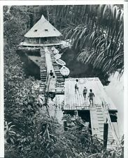 1982 Jungle Camp Amazon River Iquitos Peru Press Photo