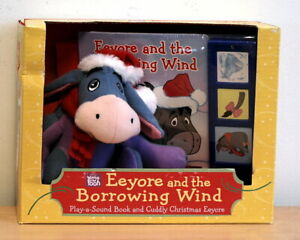 Eeyore and the Borrowing Wind Play a Sound Book & Cuddly Christmas Eeyore