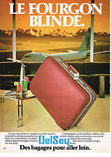 PUBLICITE ADVERTISING 034   1980   DELSEY    bagages valises