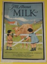 All About Milk 1929 Information Brochure - Great Pictures! Nice  SEE!