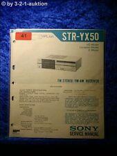 Sony Service Manual STR YX50 Receiver (#0041)