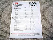 3M 908 studio mastering reel to reel tape brochure