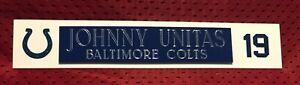 JOHNNY UNITAS  NAME PLATE FOR HELMET / FOOTBALL/ CARD /JERSEY / PHOTO