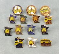 MINNESOTA Enameled SCHOOL BUS SAFETY Pinback LAPEL Pins Lot