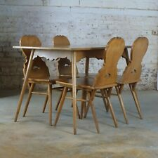 1920's Swedish Arts And Crafts Style Dining Table And Chairs