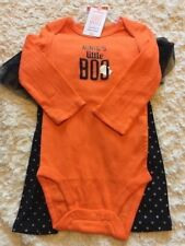 NEW Just One You Girls Halloween Outfit Orange One Piece Black Pants 12 Months