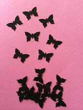 50 small Black Butterflies wedding crafts, scrapbooking table confetti