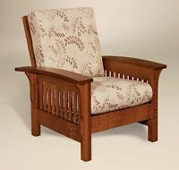 Amish Mission Arts & Crafts Accent Chair Empire Upholstered Solid Wood