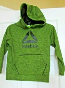 REEBOK PULLOVER HOODIE Green/Black Unisex/ Boys ATHLETIC SIZE X Small