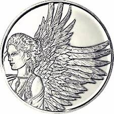 """Reflection"" 1.25"" Angel Pocket Coin Token By AngelStar; Protected By Angels"