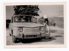 PHOTO ANCIENNE Voiture Auto Automobile Portrait Simca 1000 Homme vers 1960
