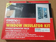 NEW (1) ESKIMO WINDOW INSULATOR KIT FILM 3' X 5' STOPS DRAFTS/REDUCES Heat LOSS