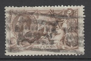GB KGV 2s.6d. Chocolate-Brown SG414 SEAHORSES George V Used Stamp