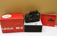 "Leitz Wetzlar - Leica M4 Gehäuse/Body schwarz ""original black chrome"" - OVP !"