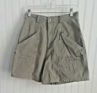 Columbia Womens Sportswear Hiking Shorts Sz 6 Olive Green  Cargo Style 6 Pockets