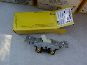 Box of 10 - Hubbell CS115I Single Pole Ivory Switch 15A 120/277 VAC