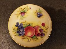 """Crown Staffordshire ORCHARD GLORY Miniature Plate 3"""""""