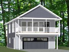 24x32 House -- 1 Bedroom 1.5 Bath -- 851 sq ft -- PDF Floor Plan -- Model 7D