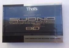 Eso es SUONO 90 en Blanco Metal Cassette De Audio-Nuevo y Sellado