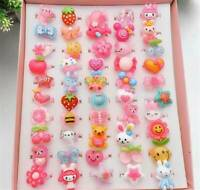 20x Wholesale Mixed Lots Cute Cartoon Resin Rings For Children Kids Jewelry Gift