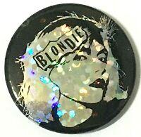 BLONDIE - Original 2007 Button Badge Official Safety Fastener Debbie Harry