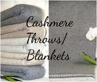 Cashmere Throw Blanket Wool Throws Blankets Bed Sofa New Home Soft Sheet Bed