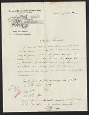 "PARIS (I°) BRASSRIE ""GRANDE BRASSERIE DU PONT NEUF / L. RANDOUIN Proprio"" 1930"