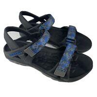 Merrell Hydro Drift Water Sandals Shoes Black Navy Blue Big Kids Boys Size 4
