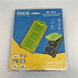 Gepe Card Safe Mini Neon for Three SD MMC Stick Duo Memory Cards compact protect