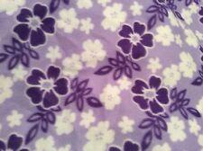 "Lavender light purple Hawaiian hibiscus fleece fabric 60"" wide,soldBTY"