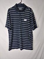 Nike Golf Mens Shirt Size XL Black Striped Short Sleeve Dri Fit Polo