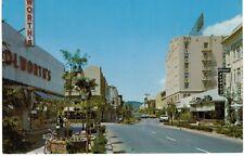 Postcard CA Santa Cruz Mall New Look Of Main Street 50s 60s Old Cars Woolworths
