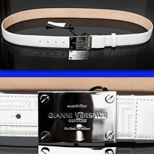 $725 GIANNI VERSACE Couture MEN'S LEATHER BELT w/ Price & Certificate (46 / 115)