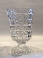 Vintage Waterford Crystal Master Cut Pedestal Vase 8\u201d