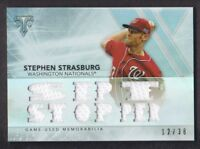 2015 Topps Triple Threads Relics #SS3 Stephen Strasburg Jersey 12/36 Nationals