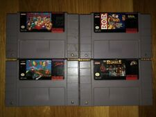SNES 4 GAME LOT! SUPER PUNCH OUT!! B.O.B. CLAYMATES WWF ROYAL RUMBLE!!! LOOK!!!!