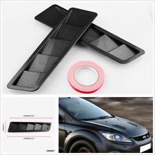 "One Pair 16.7x4.5"" Universal Hood Vents Louver Panel Trim Carbon fiber pattern"